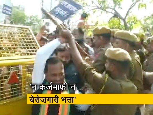 Video : जयपुर में राज्य सरकार के खिलाफ सड़कों पर उतरी बीजेपी