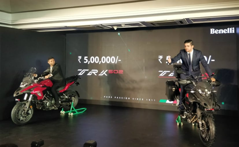 The Benelli TRK 502 and the 502 X are open for bookings online with deliveries to start in April
