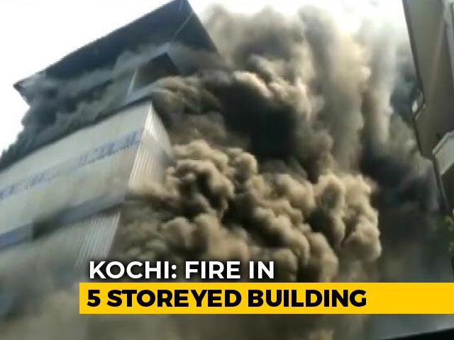Video : Fire At Kochi Rubber Factory, Residents From Nearby Buildings Evacuated