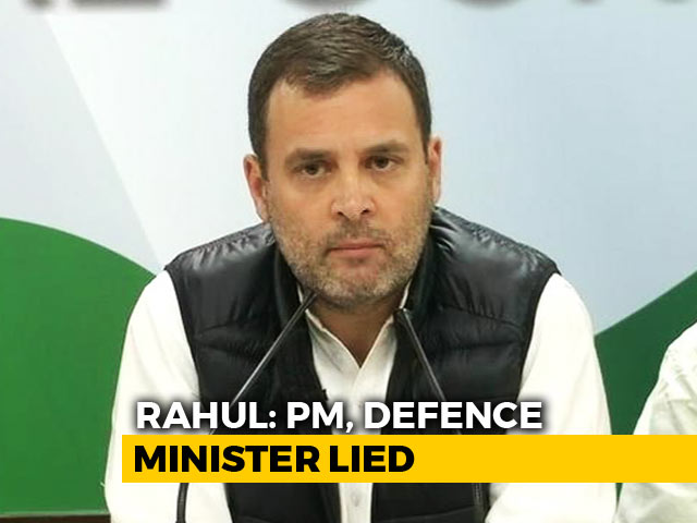 "Video : ""Investigate Robert Vadra, But Also Probe Rafale"": Rahul Gandhi To Centre"
