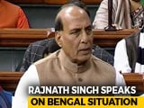 "Video : ""There May Be Constitutional Breakdown In West Bengal"": Rajnath Singh"