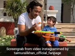 तैमूर अली खान अब गिटार बजाने में भी हो गए मास्टर, वायरल Video में दिखा नया अंदाज