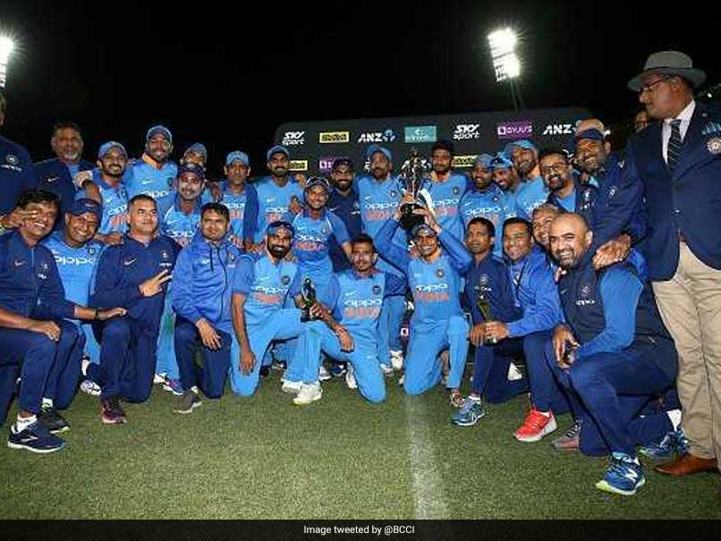India Players Chant Bollywood Movie Dialogue After NZ Triumph. Watch