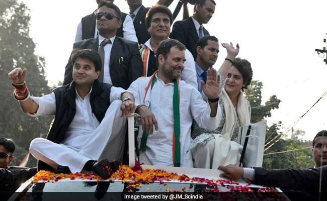 राहुल ने रैली में लगवाए 'चौकीदार चोर है' के नारे, ज्योतिरादित्य बोले- सरकार जाने को है, बदलाव आने को है, देखें VIDEO