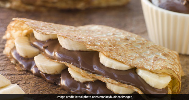 Chocolate and Banana Crepes