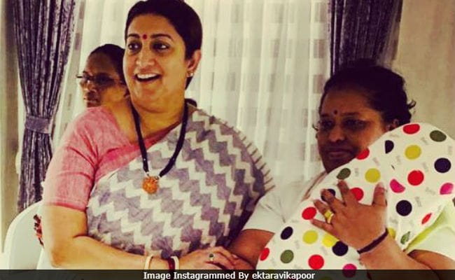 Smriti Irani Features In Ekta Kapoor's 'Maasi Special' Album Of Son Ravie