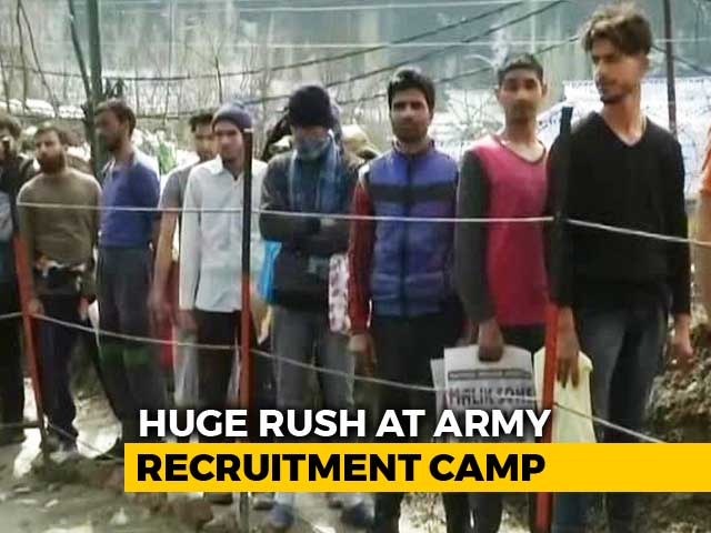 Video : After Pulwama, 2,500 Young Kashmiri Men Apply For 111 Vacancies In Army