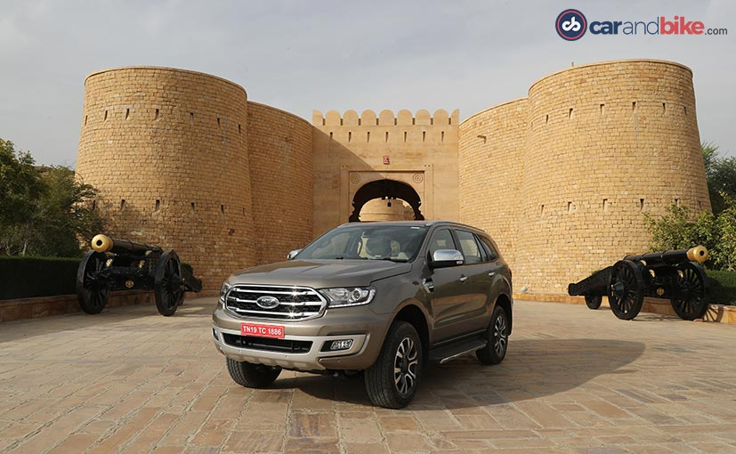 The 2019 Ford Endeavour will be assembled at the company's Chennai plant