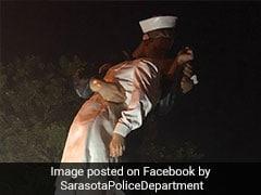 Statue Of US Sailor Kissing Nurse Vandalised With '#MeToo'
