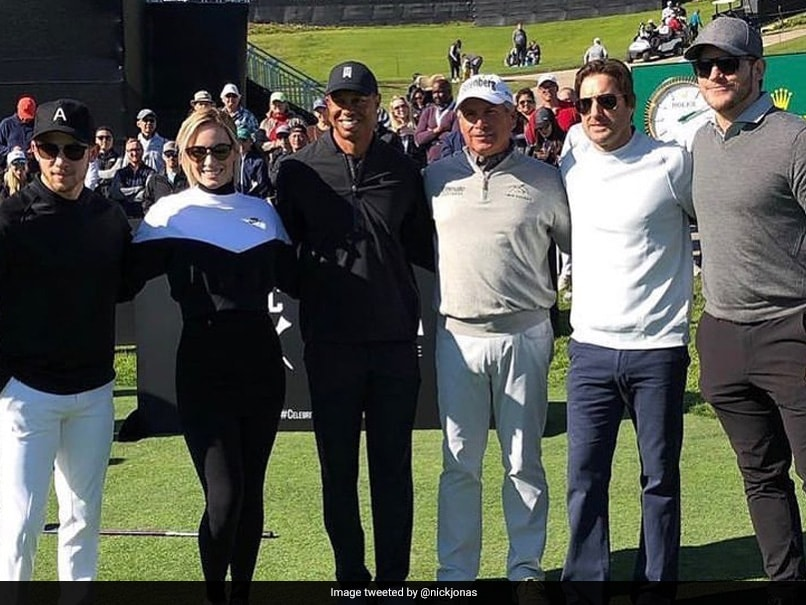Nick Jonas Plays Golf With Tiger Woods At Celebrity Cup. Watch