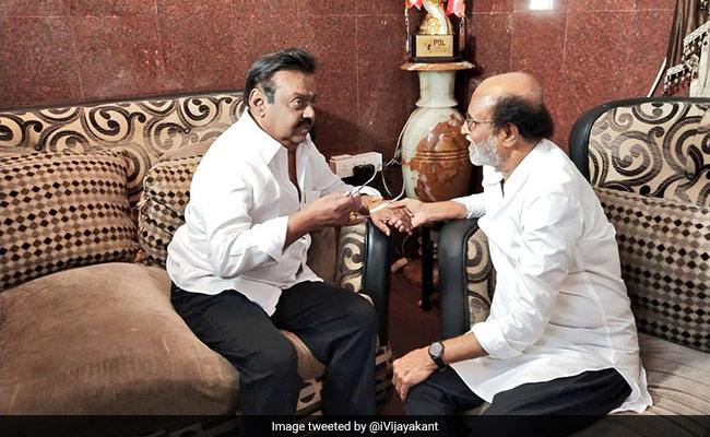Not A 'Single Drop Of Politics' In Meet With Vijayakant, Says Rajinikanth