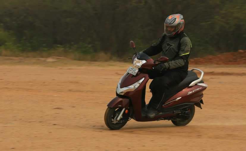 The Hero Destini 125 offers decent performance and the practicality of a 110 cc scooter.
