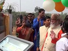 Biplab Deb Passes Balloons Around As National Anthem Plays At Tripura Event