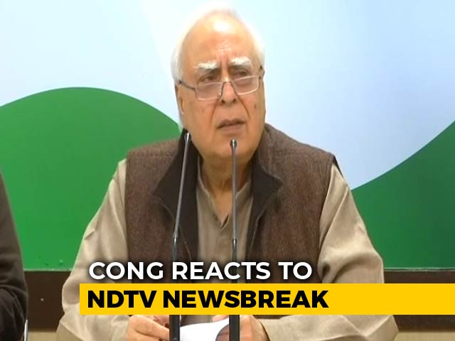 Video : How Can Top Auditor Probe His Own Role In Rafale Deal, Asks Kapil Sibal