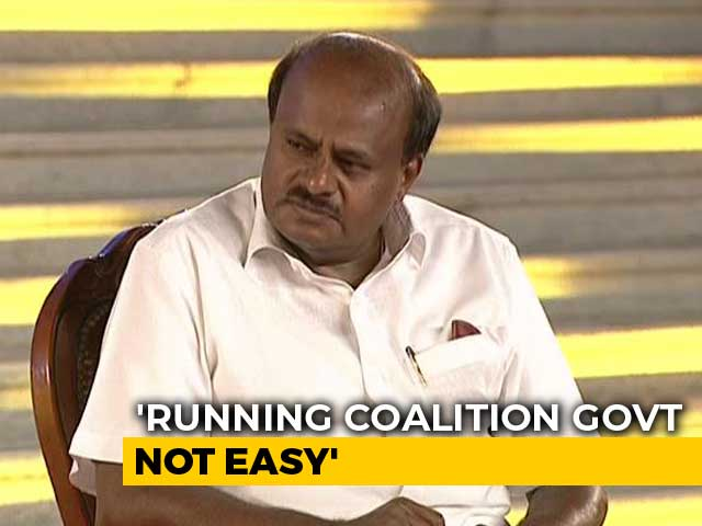 "Video : ""Is BJP Alliance With Nitish Kumar Holy"": Kumaraswamy Hits Out At PM Modi"