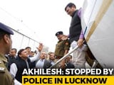 "Video : ""Don't Touch Me,"" Akhilesh Yadav, Stopped At Airport, Tells Official"
