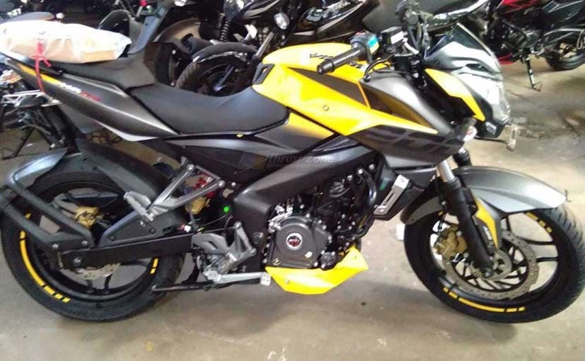 The yellow Bajaj Pulsar NS200 is all set to be launched in a few weeks