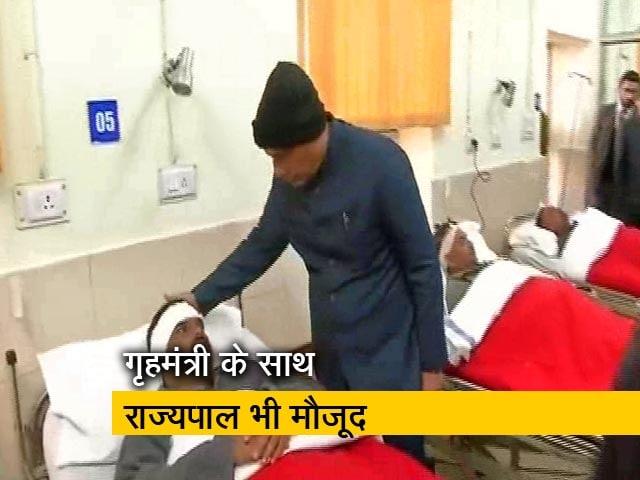 Videos : पुलवामा हमले में घायल जवानों से मिलने पहुंचे राजनाथ सिंह