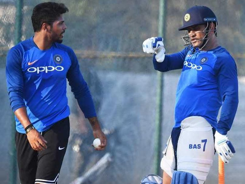 MS Dhoni Sweats It Out In The Nets Ahead Of T20I Series Against Australia - Watch