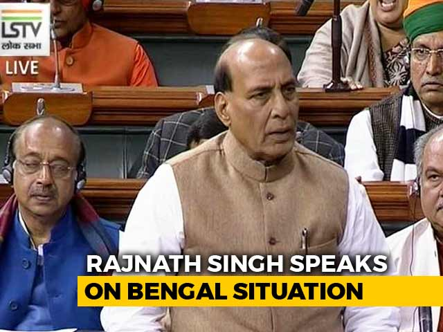 """Video : """"There May Be Constitutional Breakdown In West Bengal"""": Rajnath Singh"""