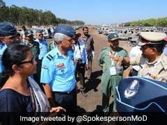 Nirmala Sitharaman Visits Site Of Fire Near Aero India In Bengaluru