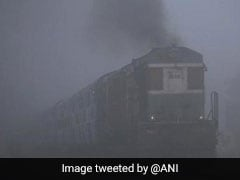 Cold Morning In Delhi, Fog Disrupts Trains Second Day In A Row