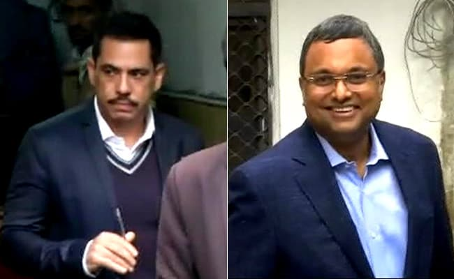 With Robert Vadra And Karti Chidambaram Inside, Busy Day For Probe Agency