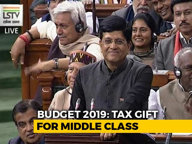 Video : No Tax For Annual Income Upto Rs. 5 Lakh, Says Piyush Goyal