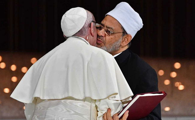 Pope And Top Muslim Cleric In Joint Call For Freedom Of Belief