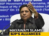 "Video : ""Sheer Helplessness"": Mayawati Scoffs At BJP's Tie-Up With Sena, AIADMK"