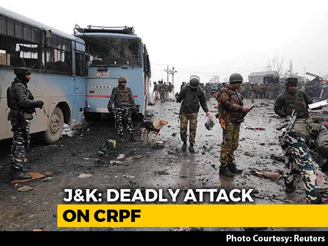 Video : Biggest Terror Attack On Security Personnel In Kashmir