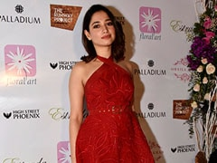 This Valentine's Day, Go All Out In A Red Dress Like Tamannaah Bhatia