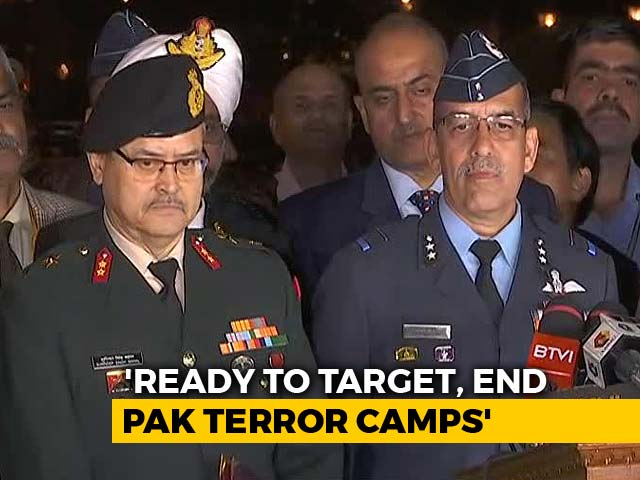 "Video : ""Prepared To Respond To Any Provocation From Pak"": Briefing By Services"
