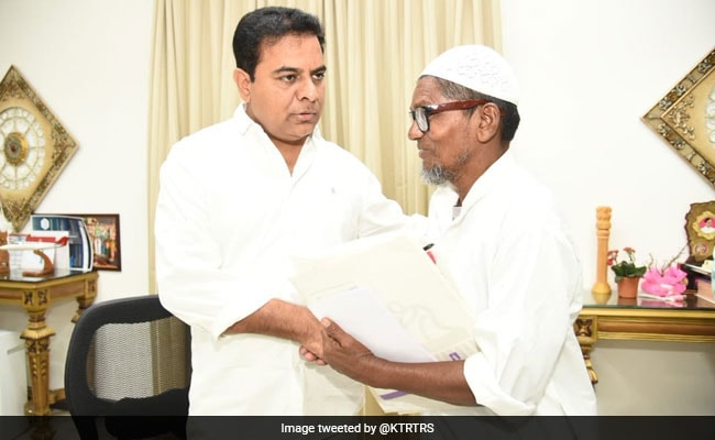 TRS Working President KT Rama Rao Assures Help To Ice Gola Man