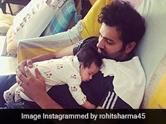 """This Is Special"": Rohit Sharma Enjoys Daddy Duty With Daughter Samaira"