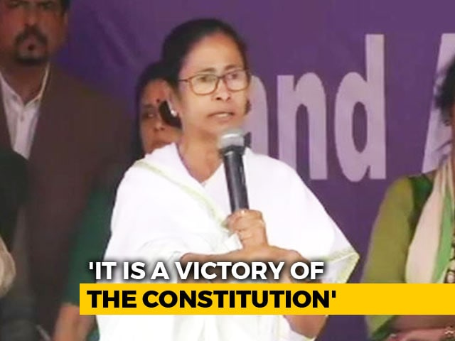 "Video : ""Moral Victory,"" Claim Both Centre, Mamata Banerjee In Order On Top Cop"