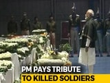 Video : As Soldiers' Bodies Arrive, PM Modi Pays Tribute At Delhi Airport