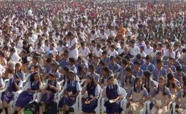 With Eye On Guinness Record, 21,000 Students Recite Sanskrit Shlokas