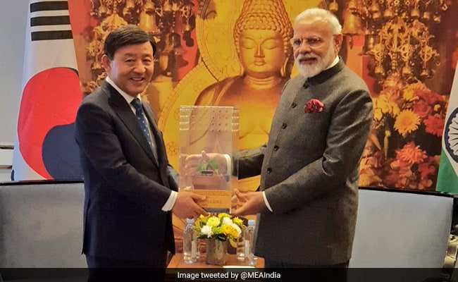 PM Modi Gifts Bodhi Tree Sapling To Mayor Of South Korean City