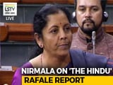 "Video : ""Flogging Dead Horse,"" Centre Says On Explosive Rafale Report"