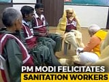 Video : At Kumbh Mela, PM Modi's Unexpected Gesture For Sanitation Workers
