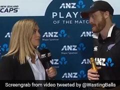 बांग्लादेश के खिलाफ मैच विजेता पारी खेलने वाले मार्टिन गप्टिल का पत्नी ने लिया इंटरव्यू, देखें  VIDEO