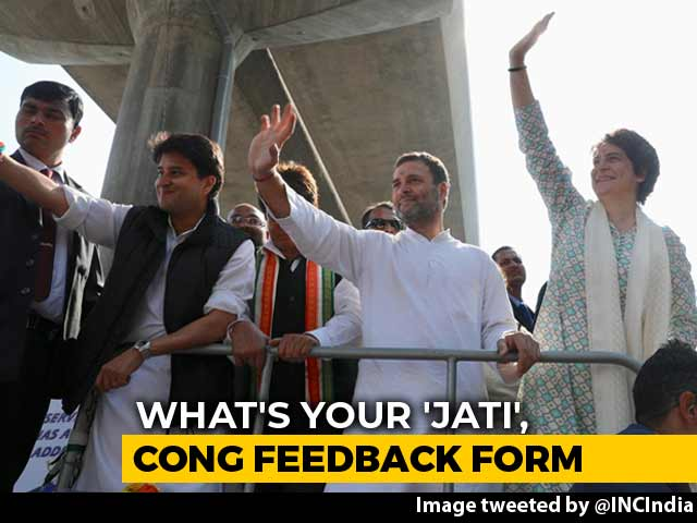 "Video : ""What's Your Caste? Twitter Handle?"": Mixed Bag In Congress Feedback Form"