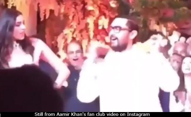 Aamir Khan Rocked 'Aati Kya Khandala' Steps With Shloka Mehta At Ambani Pre-Wedding Bash In Switzerland
