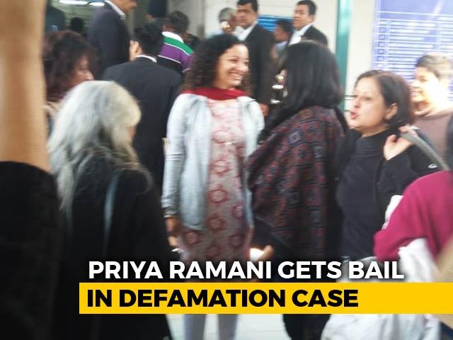 Video : Journalist Priya Ramani, Sued By MJ Akbar Over #Metoo, Gets Bail