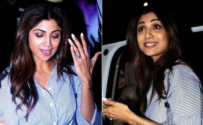 d71a3d3425 Shilpa Shetty Nails Stripes Again. Get Her Look In These 5 Shirt Dresses