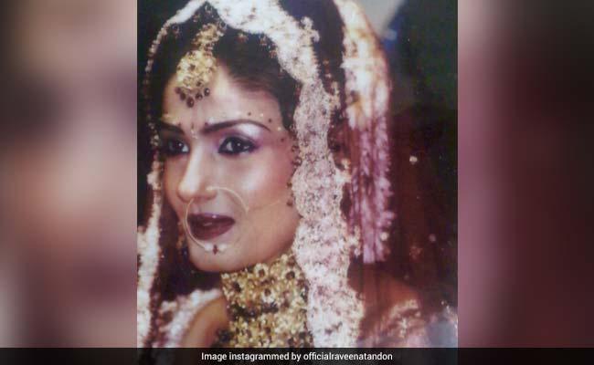Raveena Tandon As A Bride. On 15th Anniversary, Glimpses Of Her Wedding Album