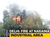 Video : Huge Fire At Greeting Card Factory In Delhi's Naraina, Days After Deadly Hotel Blaze