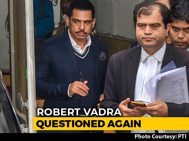 Video : Robert Vadra Questioned For Third Time In Money Laundering Case