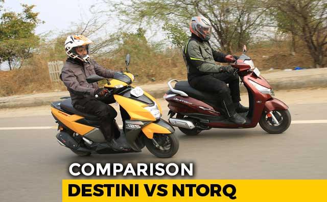 Video : Hero Destini 125 vs TVS NTorq 125 Comparison Review